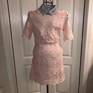 CHICWISH Floral Crochet Dress - S